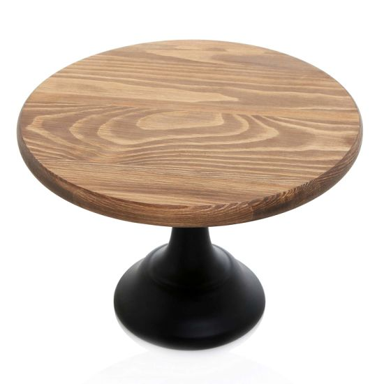 Wedding Round Paper Cake Stand with Dome Bamboo Rustic Big Cake Stand