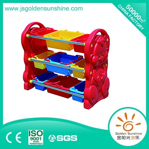 Children's Furniture Plastic Toy Shelf Storage Cabinet with Ce/Ios Certificate