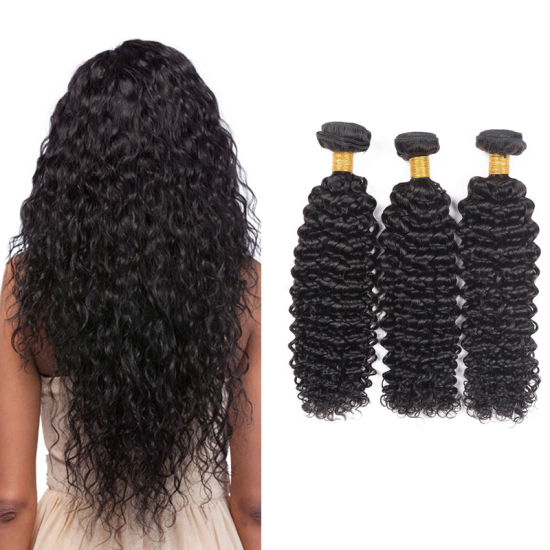 Hot Sale Black Color Brazilian Curly Human Hair Deep 16inches pictures & photos