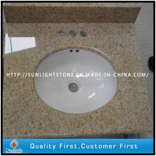 G682 Yellow Granite Kitchen Countertop and Vanity Top pictures & photos
