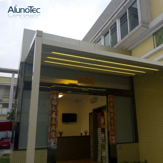 Waterproof Pergola System Retractable Roof Awning