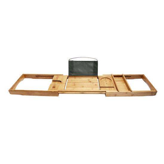 China Bamboo Bathtubtray Handcrafted Bath Tray Bathroom Shelves ...