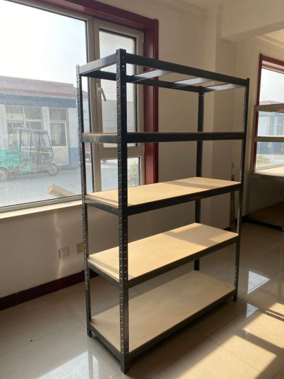 Supermarket/Warehouse Steel Heavy Display Adjustable Rivet Rack Metal Garage Shelving