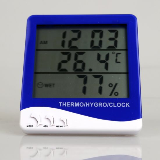 China Indoor/Outdoor Clock Digital Thermometer Hygrometer - China ...