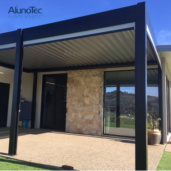Motorized Aluminium Opening Roof Garden Pergola Gazebo with Adjustable Louver pictures & photos