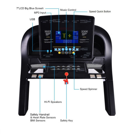 China fitness equipment home gym motorized treadmill home use