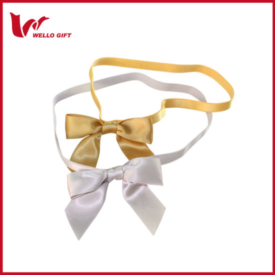 Small Polyester Ribbon Christmas Gift Bow pictures & photos