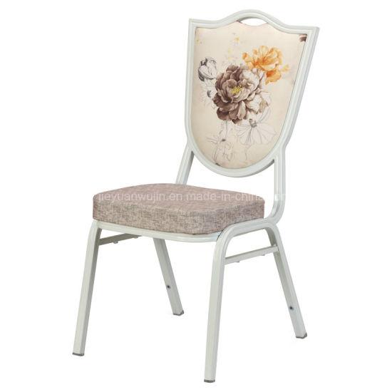 Stacked Aluminum Metal Resin Hotel Restaurant Wedding Chair