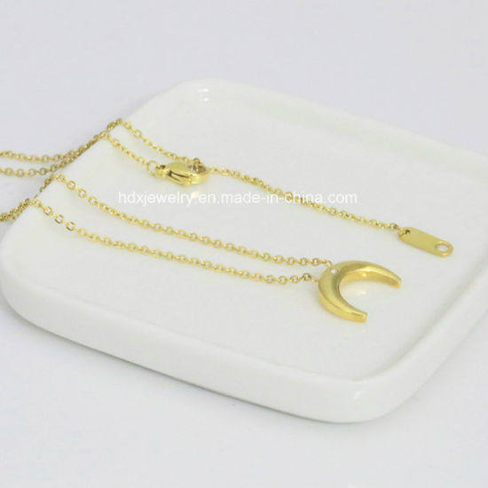 fa98280d57 China Fashion Couples Jewelry Stainless Steel Moon Pendant Necklace ...
