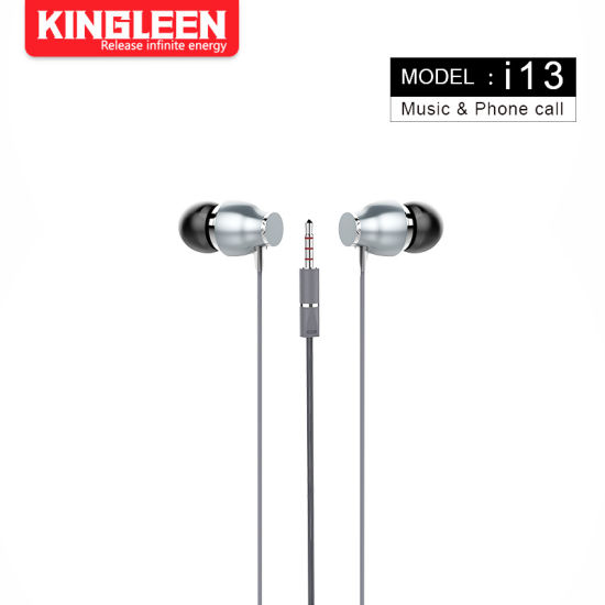 China in-Ear Wired Earphone with Microphone Earbuds Stereo