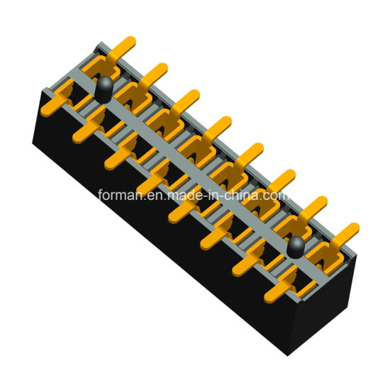 2.54mm Pitch Female Header SMT Type Single Row Series Housing Height 5mm Double Row with Post