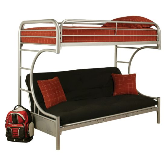 Futon Bunk Bed Silver Twin Xl