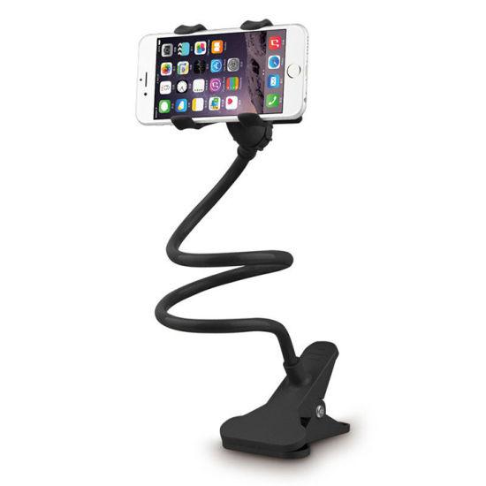 Universal Flexible Long Arm Clip Lazy Bracket Cell Phone Holder for Desk