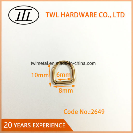 Zinc Alloy Bag Hardware Customized 6mm D Ring for Garment Accessories