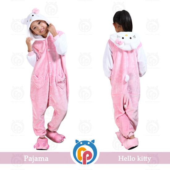 cd732f5f3 China Hot Sale Hello Kitty Super Soft Flannel Child Pyjamas - China ...