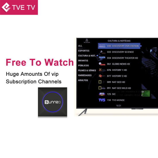 China Android TV Box with IPTV Suscription for Brazil Amlogic S905X ...