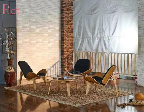 Modern Designer Hans Wenger Shell Wood Veneer Lounge Leisure Chair