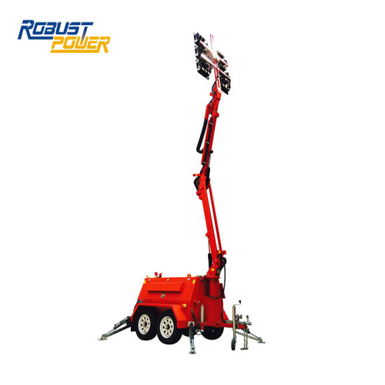 Hire 48V DC 270L Mobile LED Industrial Diesel Tower Light with Generator pictures & photos