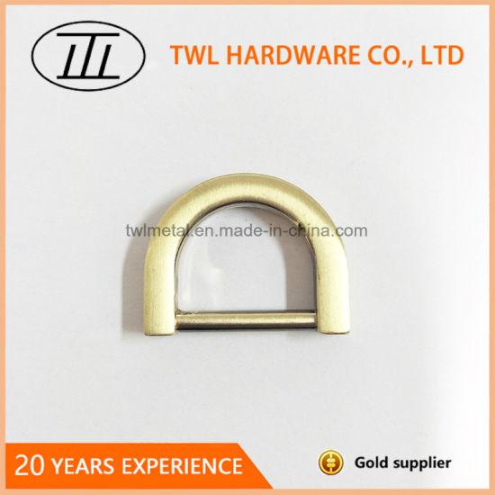 Hot Selling Bag D Ring Buckle in Brush Brass Twl4858