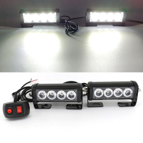 2X 4 LED12V&24V White Red Blue Car Truck Emergency Beacon Bar Hazard Strobe Flash Warning Light pictures & photos