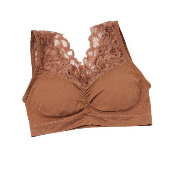 Women Lace Floral Girl Wrapped Chest Bra Cosy Underwear Tops Vest Underwear
