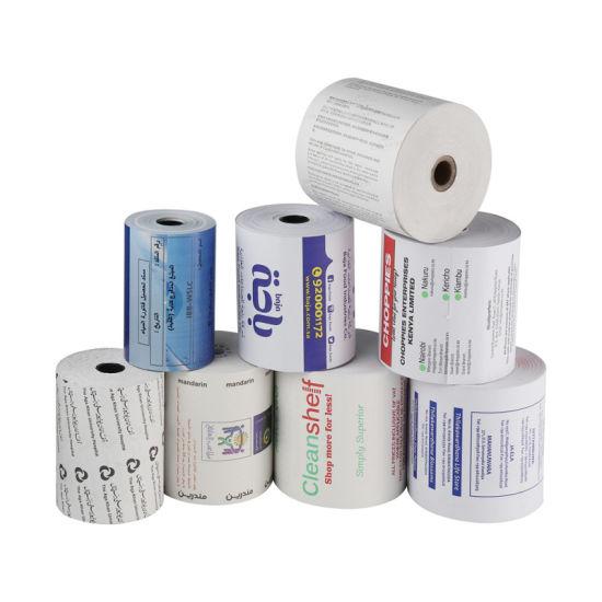 BPA Free Jumbo Thermal Till Roll Cash Register Self Adhesive Printing Paper Thermic Rolls 80mm 57mm