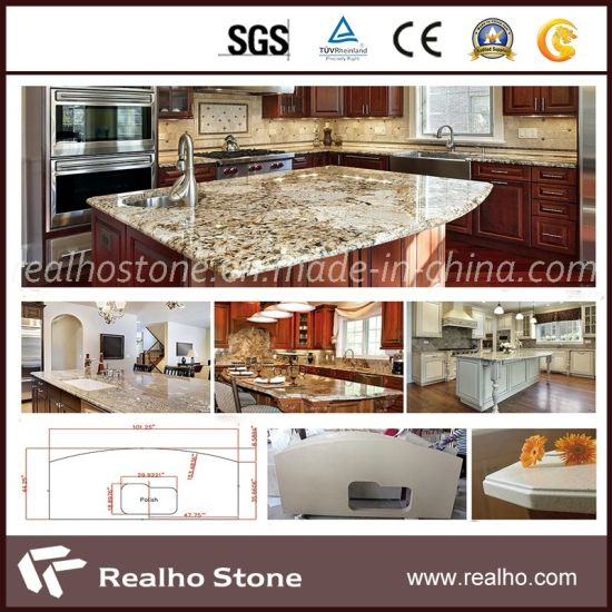 Polishedg682/G654/G603/G664/G687/G439/G562white/Black/Grey/Yellow/Red/Pink/Brown/Beige/Green Granite Countertop