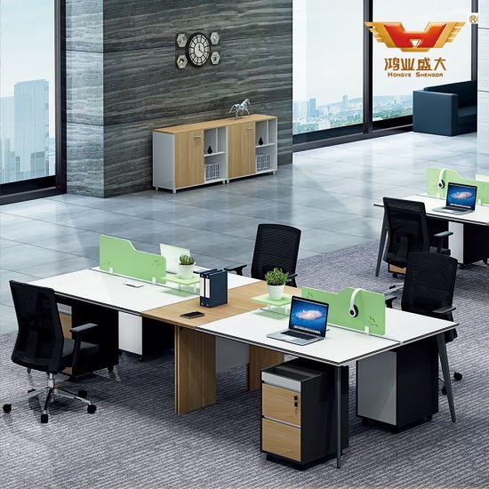 Open White Stright Call Center Design Office Workstation (H85-0255)
