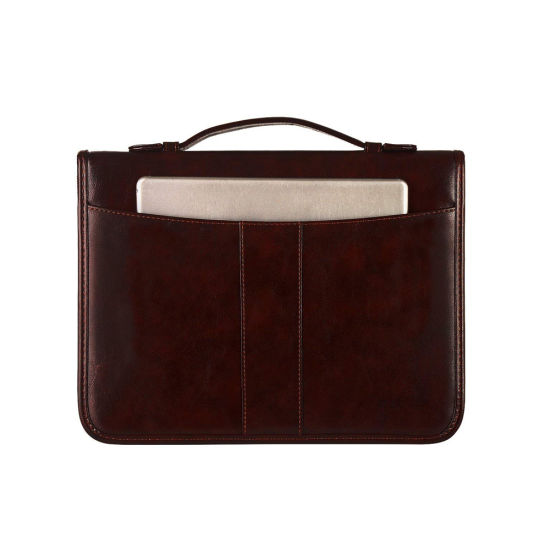 A4 Handle Briefcase Document Holder Business Leather Conference Folder