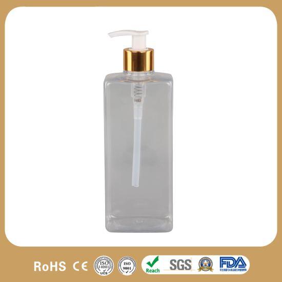 500ml 750ml Lotion Shower Empty Clear Packaging Plastic Shampoo Bottle