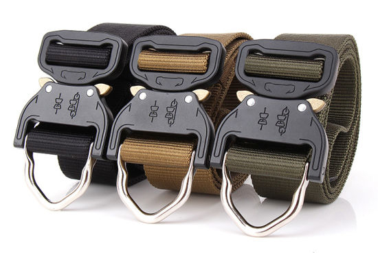 Durable Outdoor Nylon Men Women Military Tactical Training Belt with Quick Buckle pictures & photos