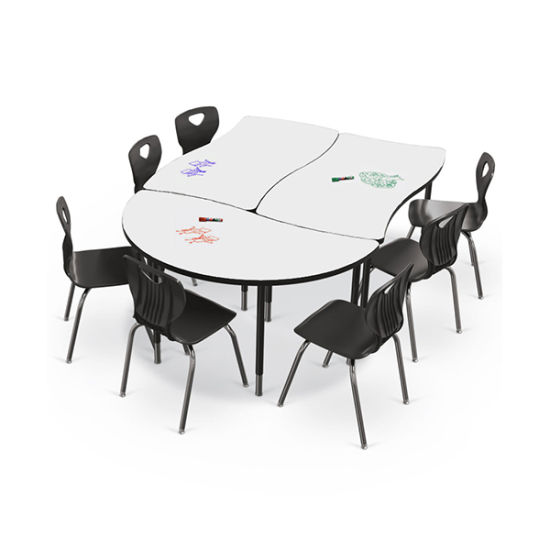 Dry Erase Whiteboard Group Study Table