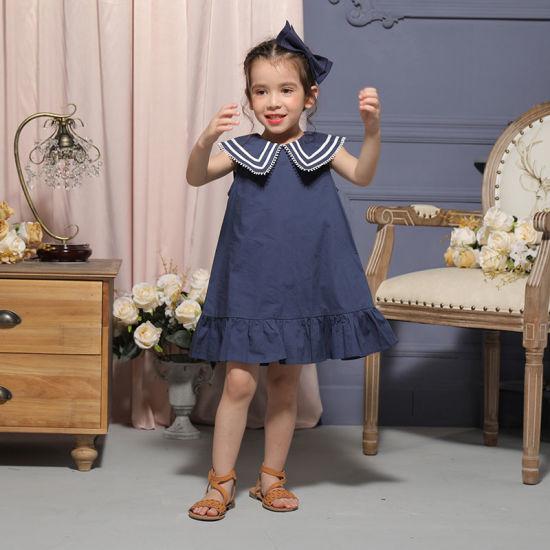 Customized Sleeveless Girl Cotton Dress Girl Summer Wear Soft Dresses