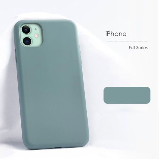 Factory Wholesale Full Cover Protection Liquid Silicone Mobile Phone Accessories Case for iPhone 11