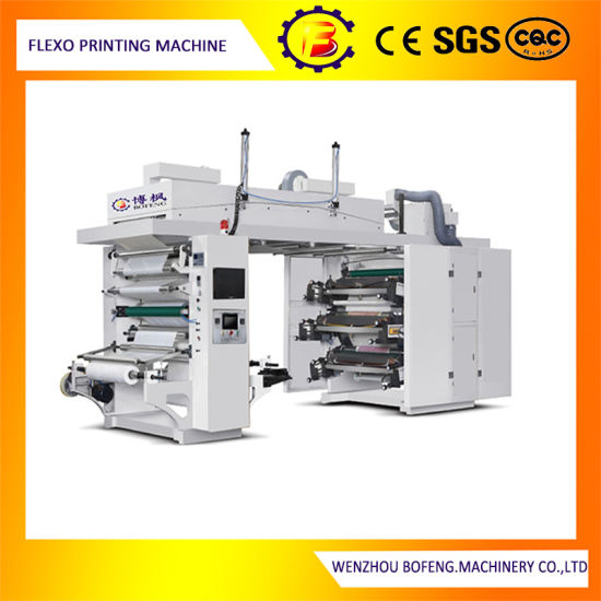 Six Color Shopping Bag Ci Flexo/Flexographic Printing Machine with PLC Control.