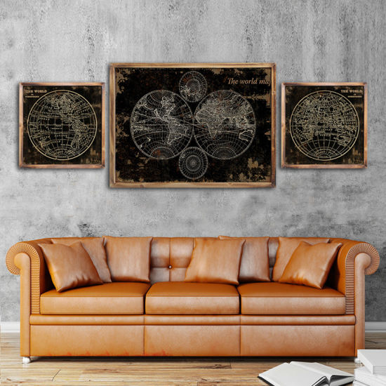 Abstract Giclee Paper Framed Wall Arts for Living Decor