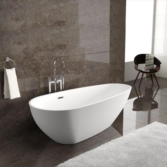 Egg Shape Freestanding Acrylic Bathtub for Bathroom Soaking