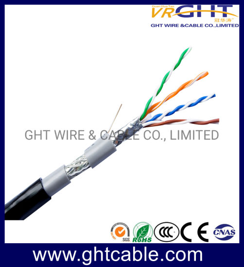 China Hot Sale 4X0.4mmcu Outdoor SFTP Cat5e LAN Cable pictures & photos