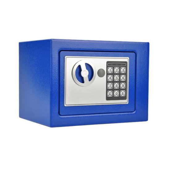Stalwart Modern Office Furniture Steel Box Security Key Safe, Blue