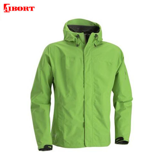 Aibort Men's 100% Polyester PU Coating Cool Fashion Jacket Waterproof Green