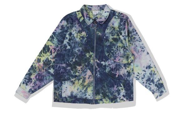 Fashion Clothing Circle Full Zipper Tie Dye Washing Men's Casual Jackets