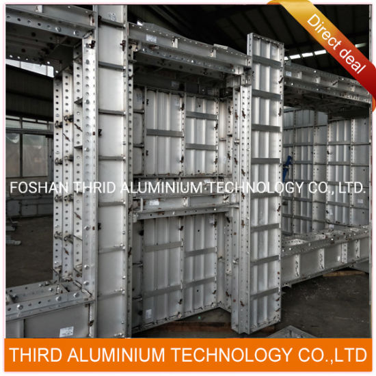 Aluminum Concrete Formwork Cement Framework Extrusion Profile Assembling and Welding