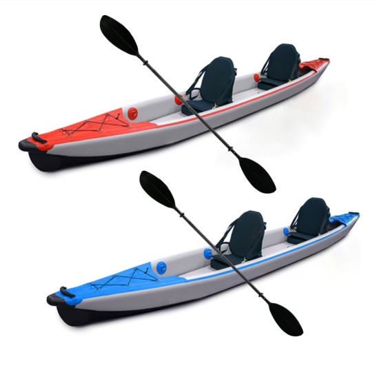 Fast Delivery Full Drop Stitch Inflatable 4.70m Double Seaters Tandem Fishing Kayak