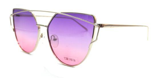 Double Bridge Stylish Sunglasses, Purple Graduted Red Lens UV Prection.