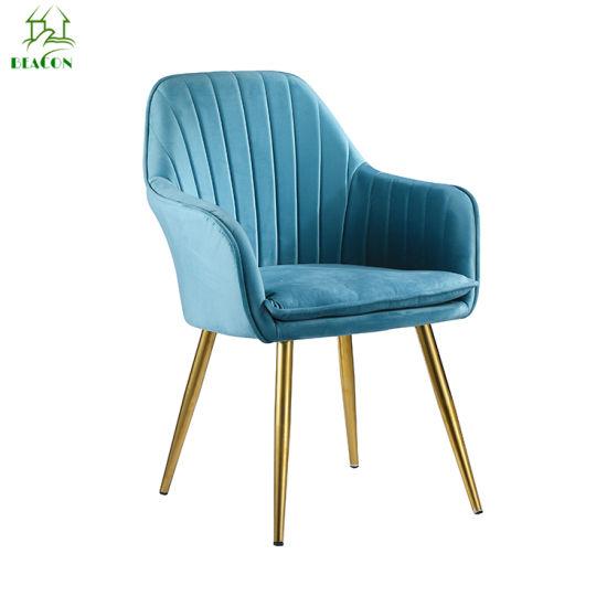 Luxury Mantis Fabric Metal Dining Chair