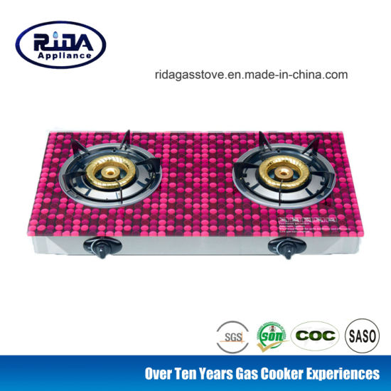 2018 New Style Tabletop Double Burner Gas Stove/Gas Cooker