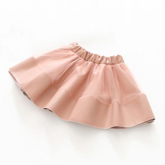 New Design Hot Sale High Waist Baby Clothing Smart Girl Skirt
