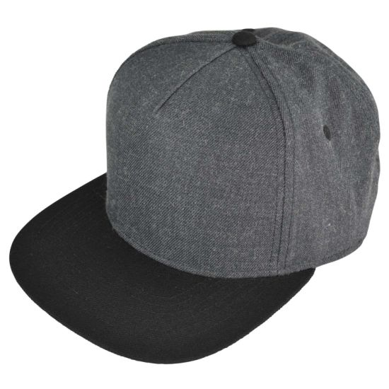 Wholesale Custom 5-Panel Snapback Baseball Sport/Sports Hat Cap with Wool Acrylic pictures & photos