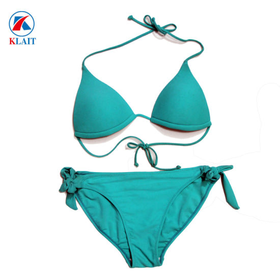 Sexy Solid Brazilian Triangle Women Bathing Suits Micro Bikini pictures & photos