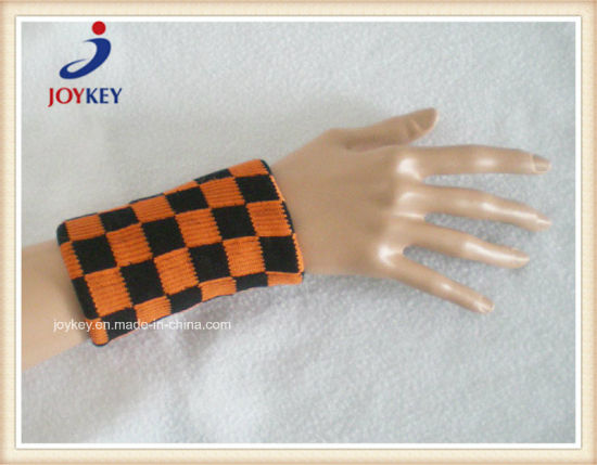 High Quality Cotton Jacquard Knitted Wristband